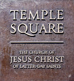 Temple square entry plaque, Salt Lake City Royalty Free Stock Photos