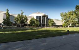 Temple Square North Visitors` Center Mormon Temple Salt Lake City. Salt Lake Temple is the centerpiece of the 10-acre 4.0 ha Temple Square in Salt Lake City royalty free stock image