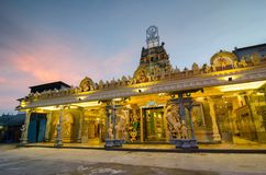 Temple Sri Mangalanayagi Amman Devasthanam, Bukit Mertajam with. Beautiful sunrise Stock Images