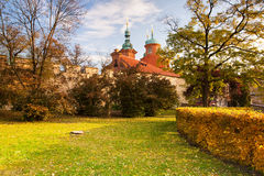 Temple of St.Lawrence in the  garden, Prague Royalty Free Stock Images