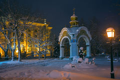Temple in St. Michael`s Golden-Domed Monastery Royalty Free Stock Image