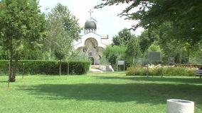 Temple of St. Petka in Rupite at Vanga in Bulgaria. Temple of Saint Petka built Vanga stock footage