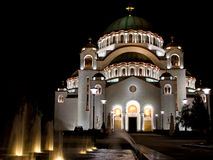 Temple of St Sava Stock Photography