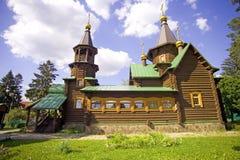 Temple of St. Seraphim of Sarov village of Snegiri wooden temple Royalty Free Stock Image