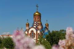 Temple of St. Seraphim of Sarov in Zelenogorsk, Krasnoyarsk region royalty free stock photos