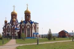 Temple of St. Seraphim Sarovskogo. Zelenogorsk town stock photo