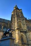 Temple St. Vitus Cathedral, Prague Castle, Czech Republic Stock Photos