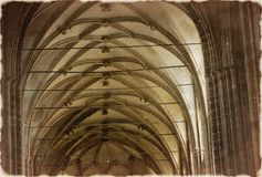 The temple of St. Vitus in Prague -  Old photo Royalty Free Stock Photos