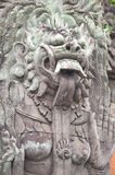 Temple Statue Carving - Bali Royalty Free Stock Photo