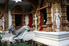 Temple and statues Stock Photography