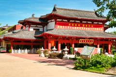 Temple 33 statues of Guanyin in Nanshan Park. Sanya, Hainan. stock images