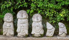 Temple Statues in Kyoto Royalty Free Stock Photography