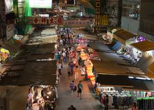 The Temple Street market. Hong Kong Stock Photos