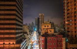 Temple Street Night Market in Hong Kong royalty free stock images