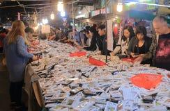 Temple street night market Hong Kong Stock Photos