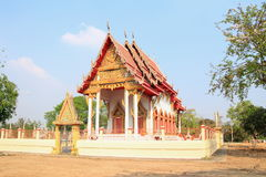 Temple. A structure reserved for religious or spiritual activities at Saraburi province stock image