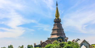 The Temple. Stupa in the temple of Thailand Royalty Free Stock Photos