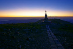 Temple stupa in wee hours Royalty Free Stock Image