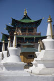 Temple and stupas. Buddhist temple and stupas in East Siberia Royalty Free Stock Photography