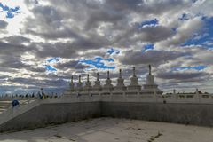 The Temple is such an interesting place and the buildings were very beautiful. Inner Mongolia, China royalty free stock photography