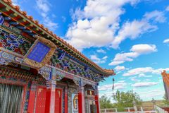 The Temple is such an interesting place and the buildings were very beautiful. Inner Mongolia, China stock image