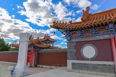 The Temple is such an interesting place and the buildings were very beautiful. Inner Mongolia, China royalty free stock photos