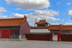 The Temple is such an interesting place and the buildings were very beautiful. Inner Mongolia, China stock photography