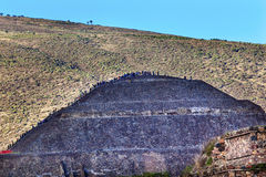 Temple of Sun Climbing Pyramid Teotihuacan Mexico City Mexico Stock Images