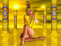Temple of the Sun Goddess Stock Photo