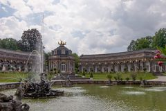 The Temple of the sun - Hermitage Bayreuth Stock Photos