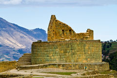 Temple of the sun, Ingapirca important inca ruins Royalty Free Stock Photo