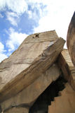 Temple  of the Sun of Machu Picchu Royalty Free Stock Photography