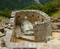 Temple of the Sun at Machu Picchu Stock Images