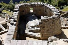 Temple of the Sun, Machu Picchu - Peru. Royalty Free Stock Photos