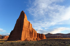 Temple of the Sun and Moon. In late afternoon, Capitol Reef National Park, UT royalty free stock image