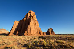 Temple of the Sun and Moon. In the morning light, Capitol Reef National Park, UT royalty free stock photo