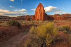 Temple of the Sun. Spring landscape near Hanksville, Utah,  USA Royalty Free Stock Image