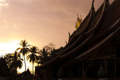 Temple in sunset Stock Photography