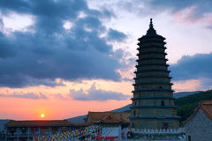 Temple sunset Royalty Free Stock Photo