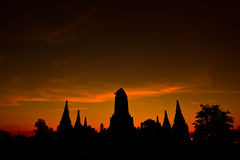 Temple in the sunset Royalty Free Stock Photos
