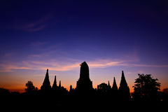 Temple in the sunset Stock Photography