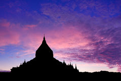 Temple at sunset Stock Image