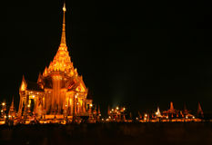 Temple after sunset Royalty Free Stock Photo