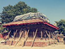 Temple supported by beams. Stock Photography