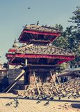 Temple supported by beams. Royalty Free Stock Photography