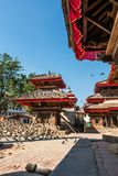 Temple supported by beams. Royalty Free Stock Photo
