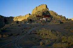 Temple sur des montagnes Photos libres de droits