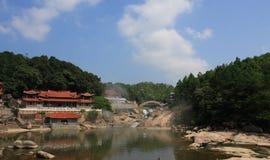 Temple sur l'eau Images stock