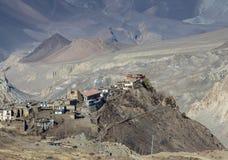 Temple sur la montagne Photos stock