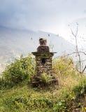Temple sur la montagne Images libres de droits